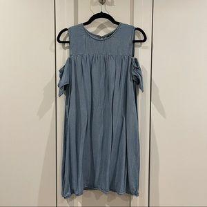 Zara Dress + Romper Chmbray Denim with Shorts